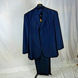 Brooks Brothers 346 2 Pc Suit 43R Navy 3 Button